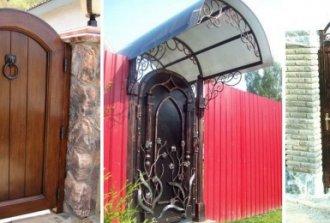 Виды ворот с калиткой для дачи, материалы и инструменты