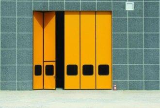 Монтаж складных ворот: гармошка для гаража и дачи