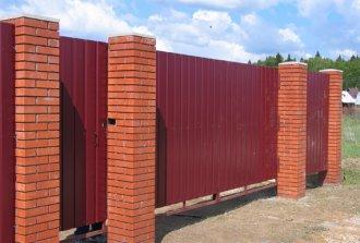 Установка ворот и забора из металлопрофиля