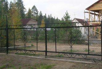 Как установить ворота из металлической сетки рабицы