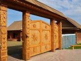 Изготовление деревянных ворот своими руками