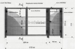 Схема кованных ворот
