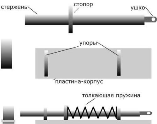Схема засова на ворота