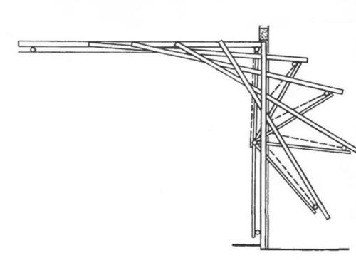 Схема работы поворотных ворот
