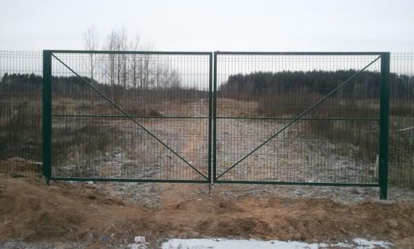 Сварные ворота с использованием сетки