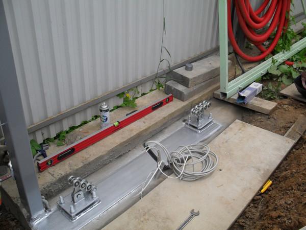 Установка роликовых держателей