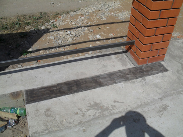 Фундамент для ворот