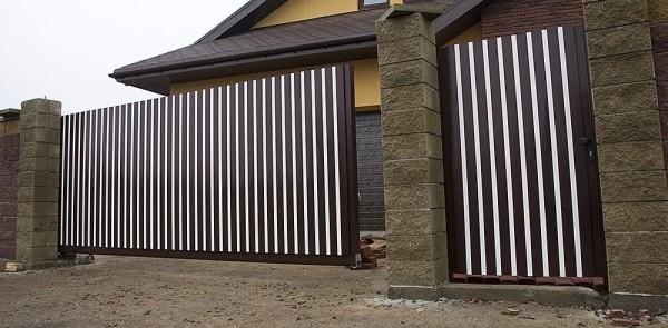 Ворота из аллюминиевого профиля