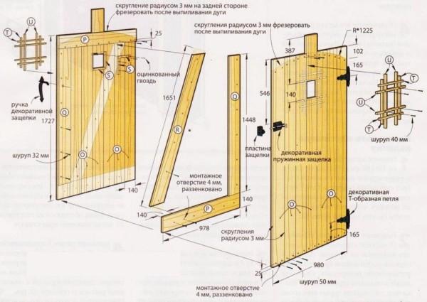 Один из возможных вариантов конструкции калитки
