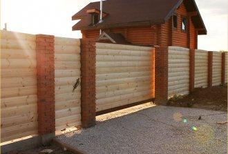 Установка кирпичных столбов для ворот