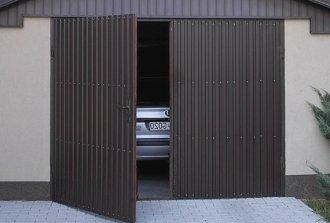 Металлические ворота в гараж своими руками