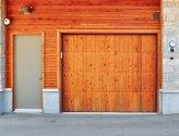 Деревянные ворота для гаража своим руками
