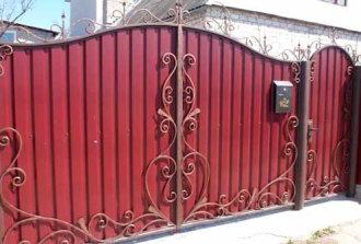 Ворота и калитка из металлопрофиля своими руками