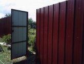 Как самостоятельно изготовить забор и ворота для дачи из профильного листа?