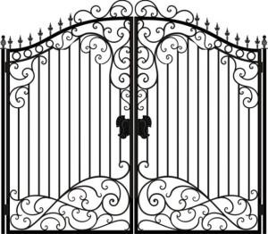 Вариант исполнения ворот