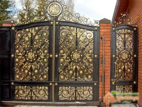 Покраска кованых ворот