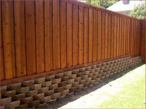 Въездные ворота с забором