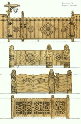 Виды столбов для деревянных ворот