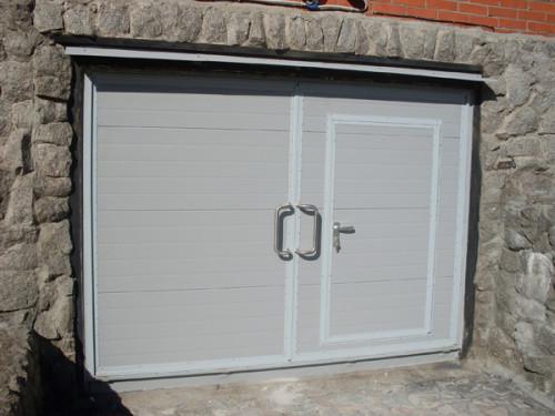 Внешний вид готовых гаражных ворот