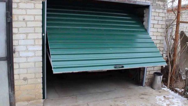 Самодельные подъемные ворота для гаража